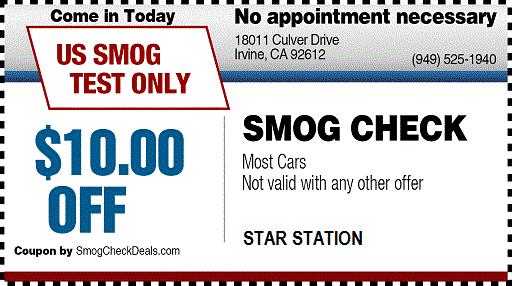 $29.75 SMOG CHECK COUPON
